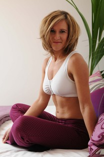 Image of woman wearing leisure mastectomy bra